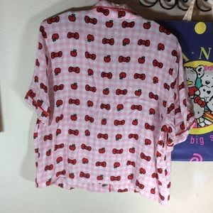 Hello Kitty Intimates & Sleepwear - Hello kitty Sanrio pink red apple pajama top PJs